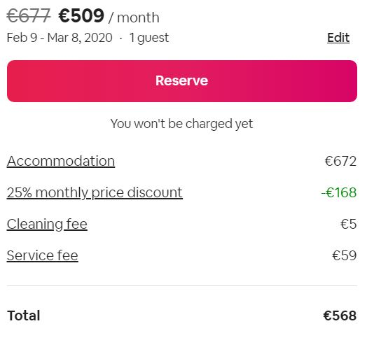 Long Stay Airbnb Discount